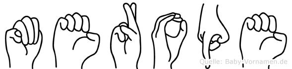 Merope im Fingeralphabet der Deutschen Gebärdensprache