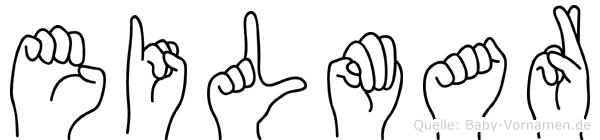 Eilmar im Fingeralphabet der Deutschen Gebärdensprache