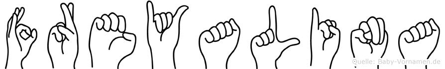 Freyalina in Fingersprache für Gehörlose