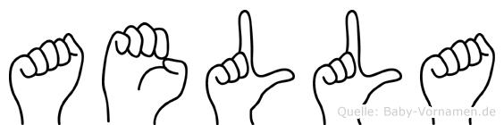 Aella im Fingeralphabet der Deutschen Gebärdensprache