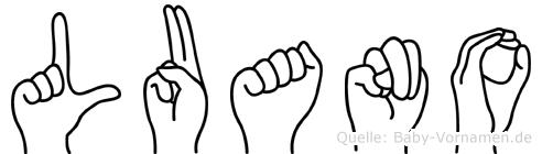 Luano in Fingersprache für Gehörlose