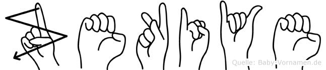 Zekiye in Fingersprache für Gehörlose