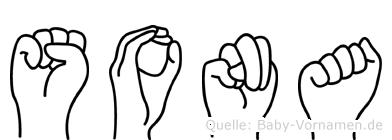 Sona in Fingersprache für Gehörlose