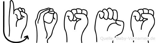 Joses im Fingeralphabet der Deutschen Gebärdensprache