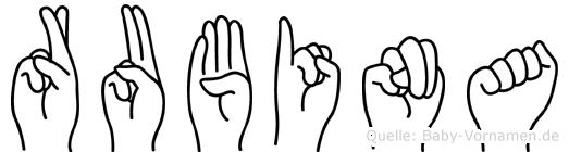 Rubina in Fingersprache für Gehörlose