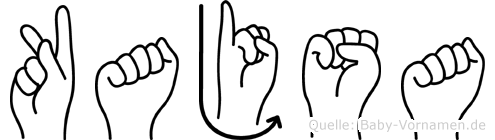 Kajsa im Fingeralphabet der Deutschen Gebärdensprache