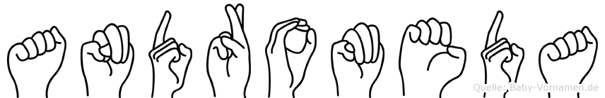 Andromeda im Fingeralphabet der Deutschen Gebärdensprache