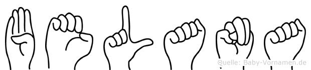 Belana in Fingersprache für Gehörlose