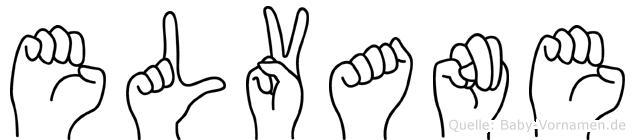 Elvane im Fingeralphabet der Deutschen Gebärdensprache
