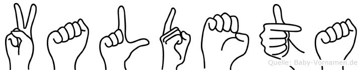 Valdeta in Fingersprache für Gehörlose