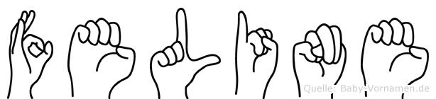 Feline in Fingersprache für Gehörlose