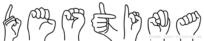 Destina in Fingersprache für Gehörlose