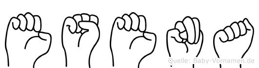 Esena im Fingeralphabet der Deutschen Gebärdensprache
