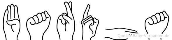 Bardha im Fingeralphabet der Deutschen Gebärdensprache