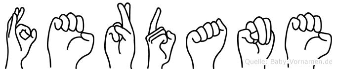 Ferdane in Fingersprache für Gehörlose
