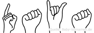 Daya in Fingersprache für Gehörlose