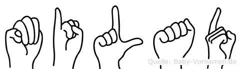 Milad im Fingeralphabet der Deutschen Gebärdensprache