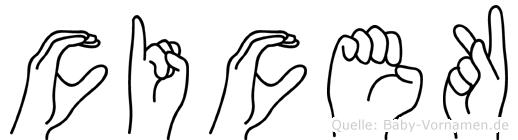 Cicek in Fingersprache für Gehörlose