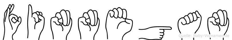 Finnegan im Fingeralphabet der Deutschen Gebärdensprache