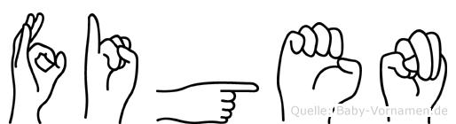 Figen in Fingersprache für Gehörlose