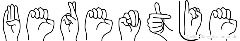 Berentje in Fingersprache für Gehörlose