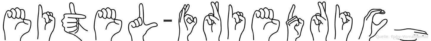 Eitel-Friedrich im Fingeralphabet der Deutschen Gebärdensprache