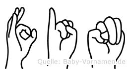 Fin in Fingersprache für Gehörlose