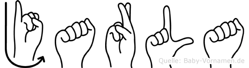 Jarla im Fingeralphabet der Deutschen Gebärdensprache