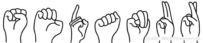 Sedanur im Fingeralphabet der Deutschen Gebärdensprache