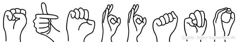 Steffano im Fingeralphabet der Deutschen Gebärdensprache