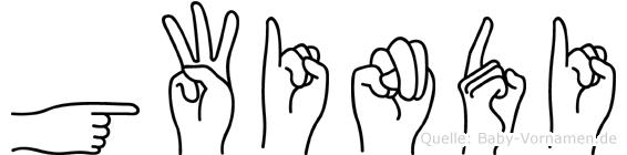 Gwindi in Fingersprache für Gehörlose