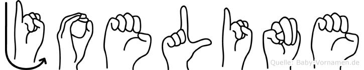 Joeline im Fingeralphabet der Deutschen Gebärdensprache