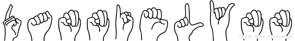 Dannielynn im Fingeralphabet der Deutschen Gebärdensprache