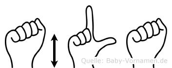 Äla im Fingeralphabet der Deutschen Gebärdensprache