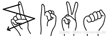 Ziva im Fingeralphabet der Deutschen Gebärdensprache