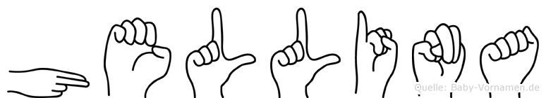 Hellina in Fingersprache für Gehörlose