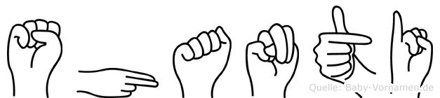 Shanti in Fingersprache für Gehörlose