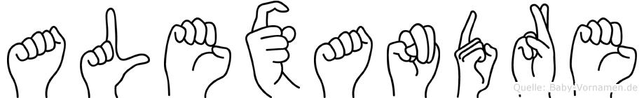 Alexandre im Fingeralphabet der Deutschen Gebärdensprache