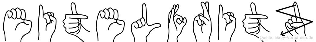 Eitelfritz im Fingeralphabet der Deutschen Gebärdensprache