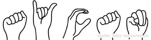 Aycan in Fingersprache für Gehörlose