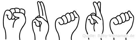 Suara in Fingersprache für Gehörlose