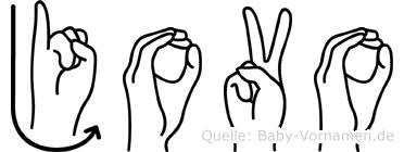 Jovo in Fingersprache für Gehörlose
