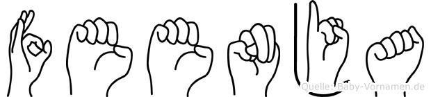 Feenja im Fingeralphabet der Deutschen Gebärdensprache