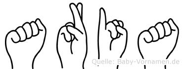 Aria in Fingersprache für Gehörlose