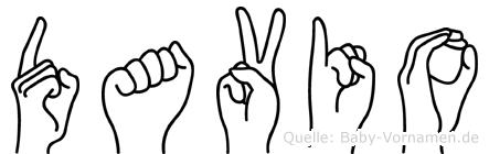 Davio in Fingersprache für Gehörlose