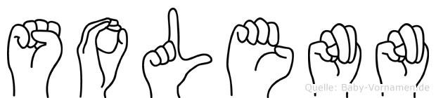Solenn im Fingeralphabet der Deutschen Gebärdensprache