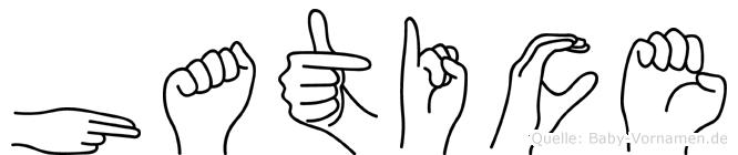 Hatice in Fingersprache für Gehörlose