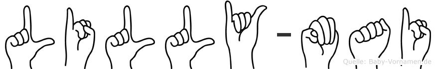 Lilly-Mai im Fingeralphabet der Deutschen Gebärdensprache