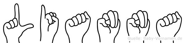 Lianna im Fingeralphabet der Deutschen Gebärdensprache