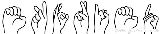 Ekfried in Fingersprache für Gehörlose
